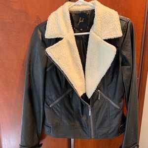 Motor Leather Sherpa jacket